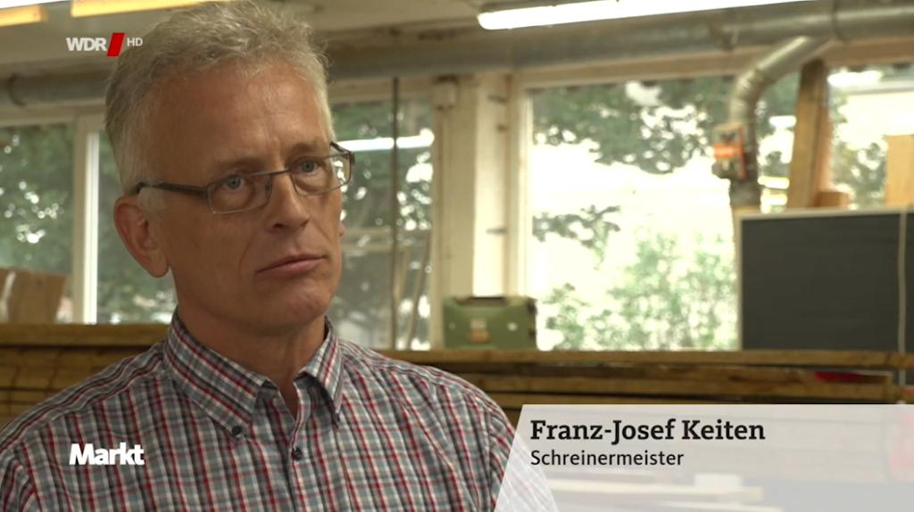 Franz-Josef Keiten im WDR Interview zum Thema Zirbenholz im Schlafzimmer