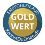 Gold-Wert Siegel